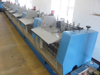 Müller Martini saddle stitcher Prima / Amrys, 10 stations plus cover feeder