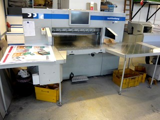 Wohlenberg 115 high speed guillotine