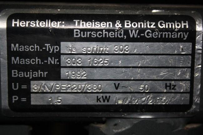Theisen & Bonitz Sprint 303 saddle stitcher