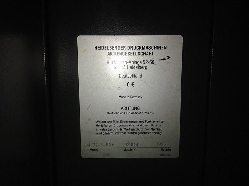 Heidelberg SM74 5-P3+L