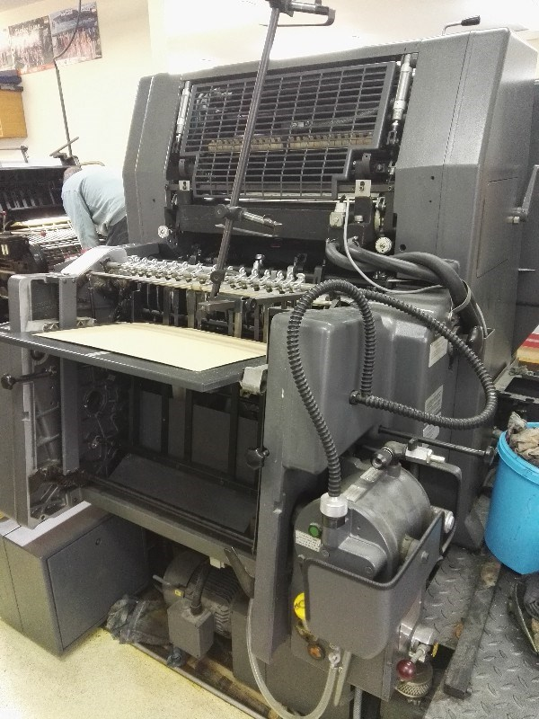 Heidelberg gto 52 single color press
