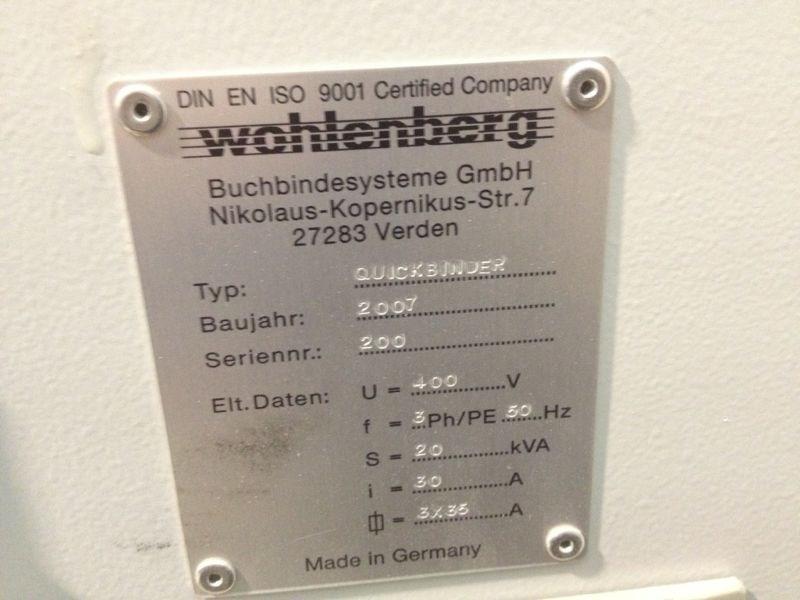 Wohlenberg Quickbinder con PUR