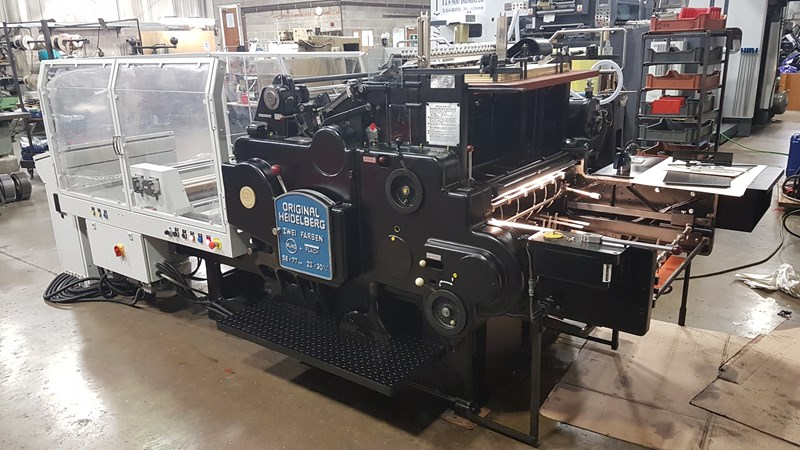 Heidelberg SBG Cylinder fitted with 2019 hot foil Conversion BY B&H