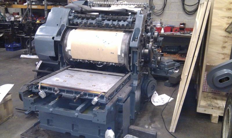 Hot foil Cylinder fully rebuilt with new B&amp&#x3b;H Hot foil conversion