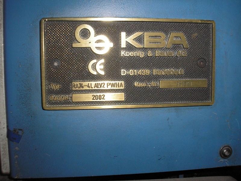 KBA Rapida 74-4+L ALV2 PWHA