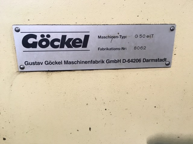 1990 GOCKEL KNIFE GRINDER MODEL G50 ECT