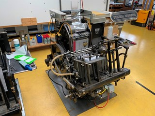 Heidelberg Tiegel A4 with foil