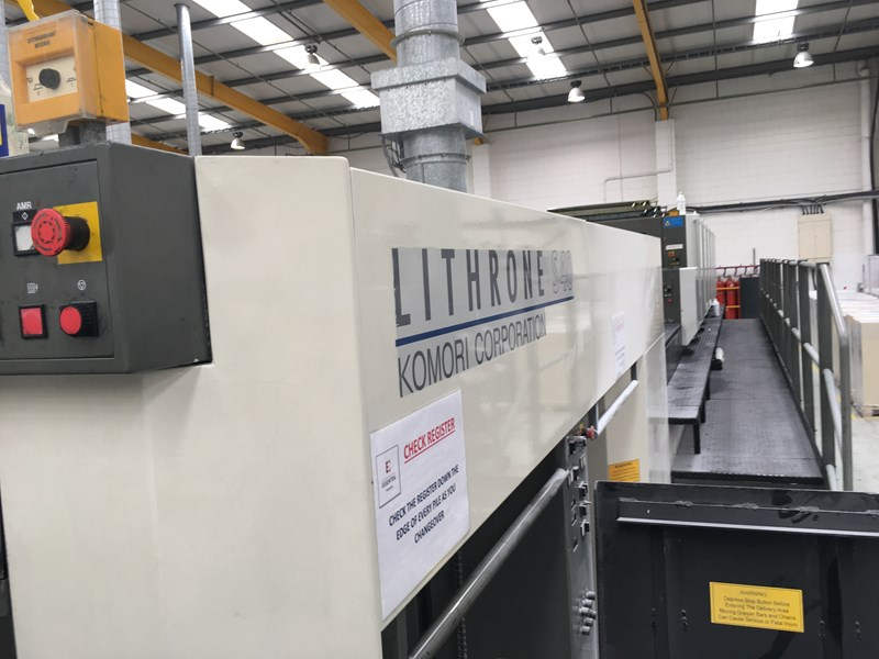 6 color used komori lithrone ls640 cx year 2002 with uv presscity rh presscity com Komori Lithrone Parts Komori Lithrone Parts