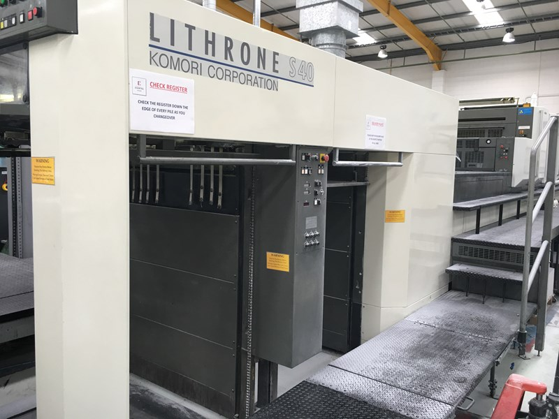 6 color used komori lithrone ls640 cx year 2002 with uv presscity rh presscity com Komori S40 Komori Lithrone 640