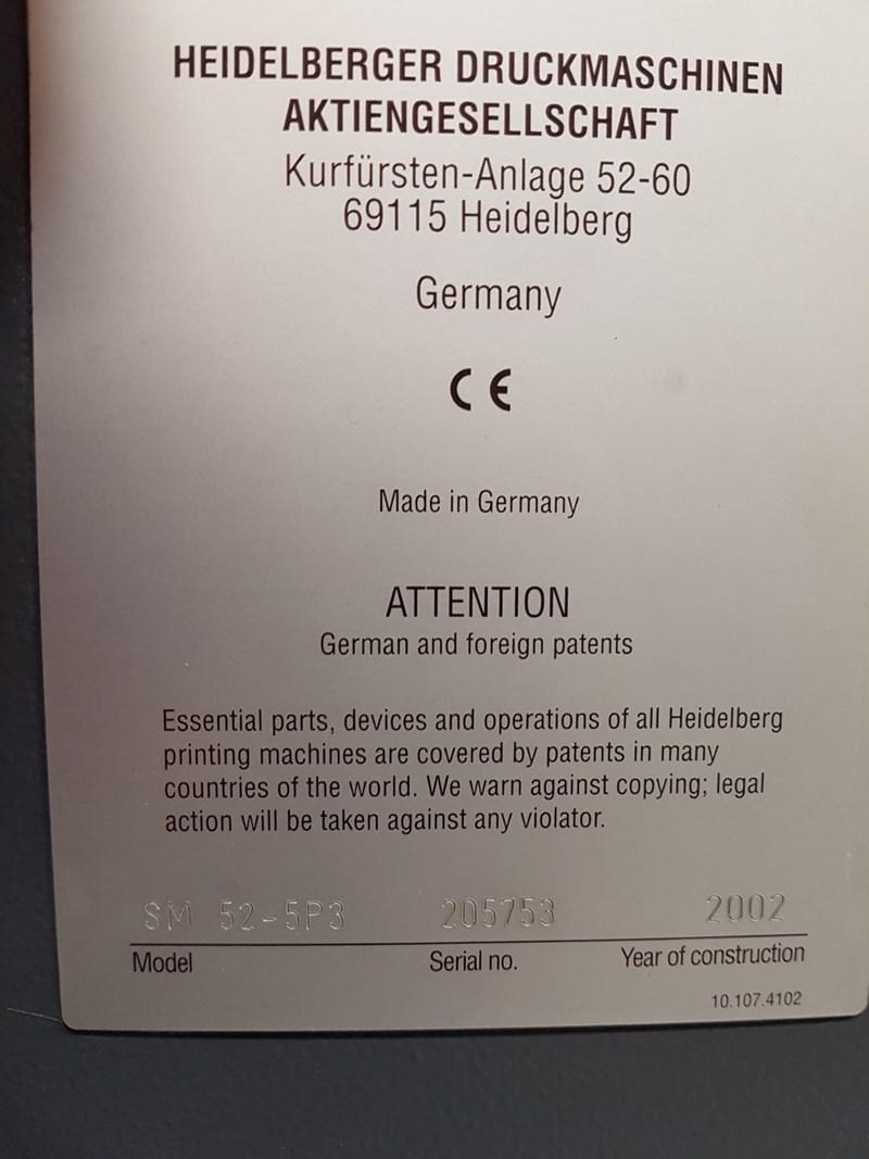 Heidelberg SM 52 5P3