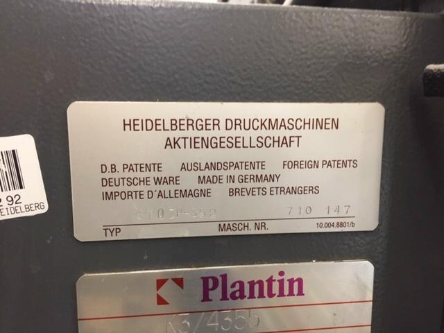 Heidelberg GTO 52 ZP-S+