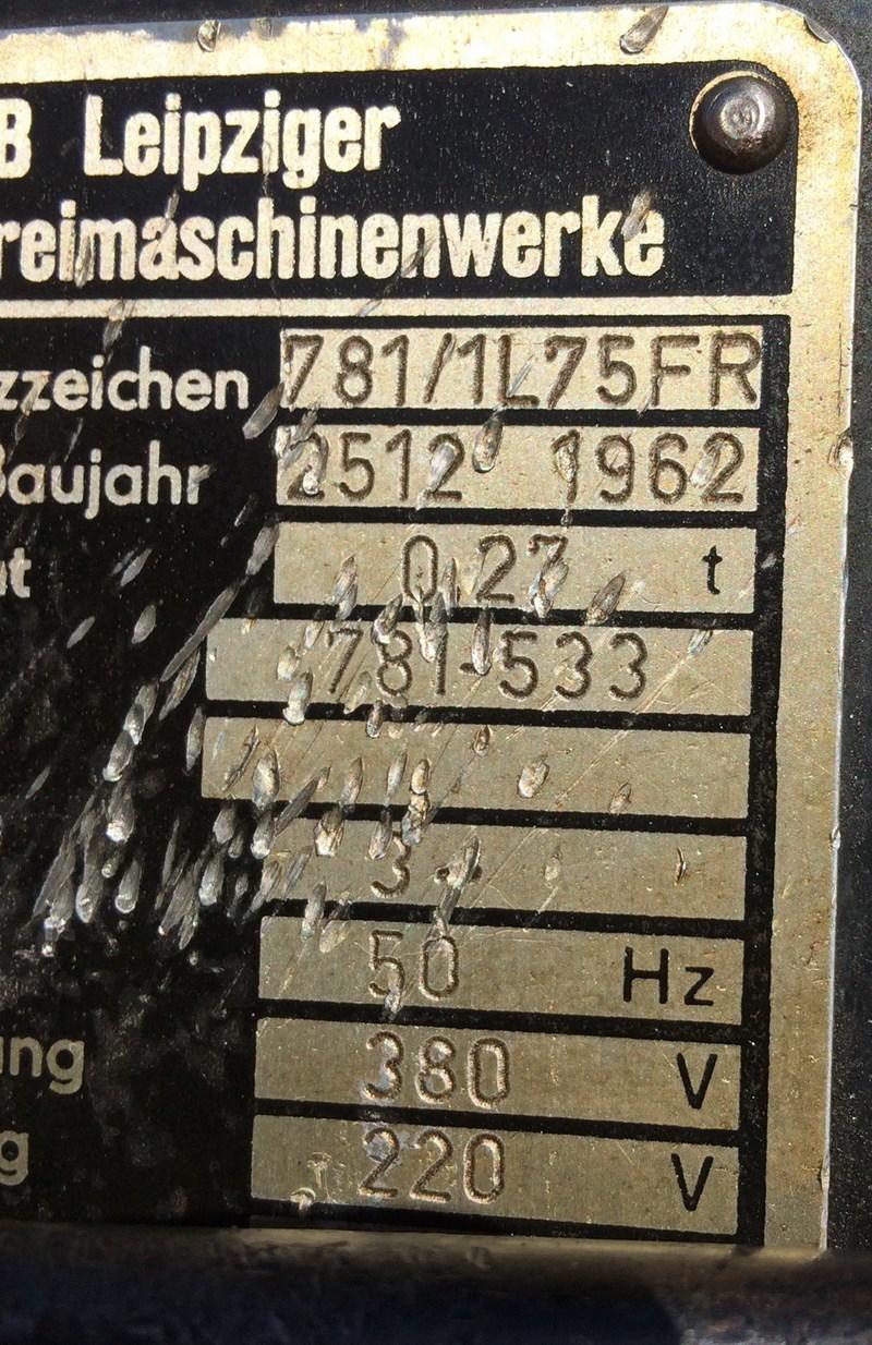 Brehmer 781/1 L75 FR