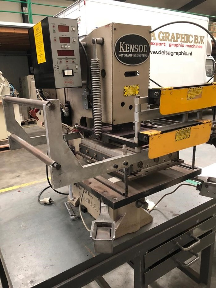 Kensol K46T Hot Stamp Foil Roll Leaf Stamping Press