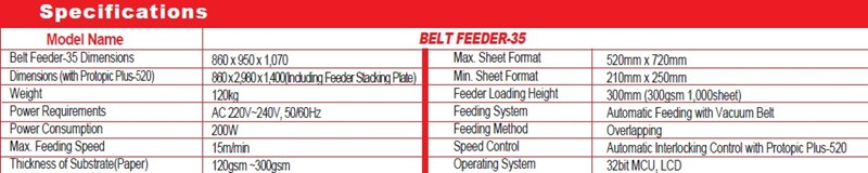 GMP BELT FEEDER 35