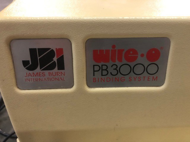 James Burn PB3000  Punch and Wire O Binder