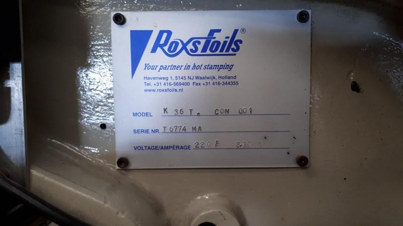 Kensol K36 T Hot Stamp Foil  Roll Leaf Stamping Press