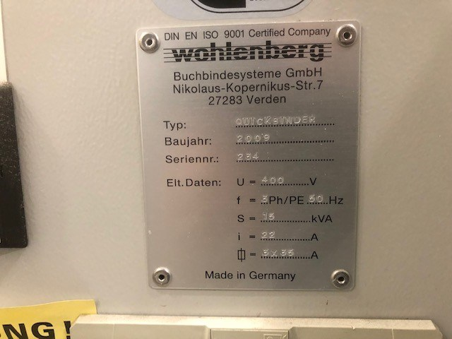 Wohlenberg Quickbinder