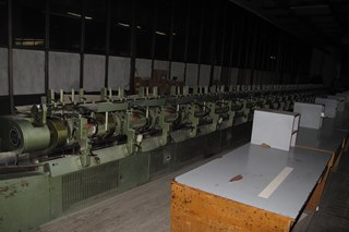Muller Martini rotobinder-gathering machine and trimmer