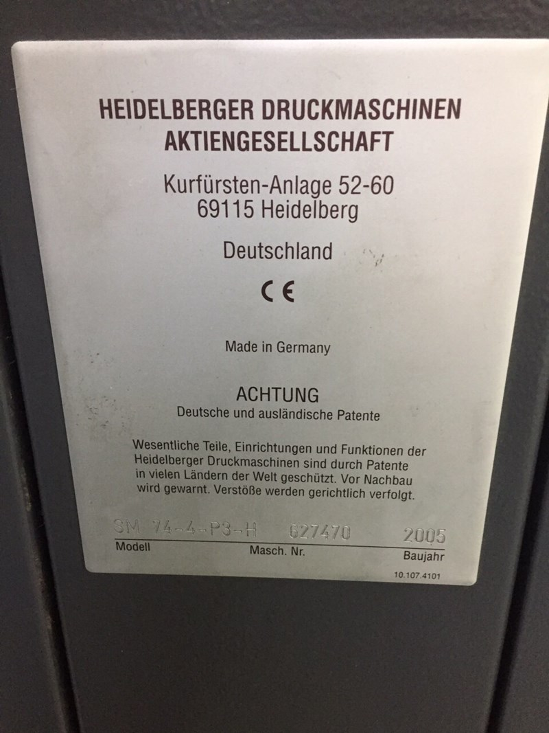 Heidelberg SM 74-4P3-H