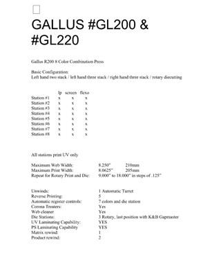 Gallus GL200 & GL220