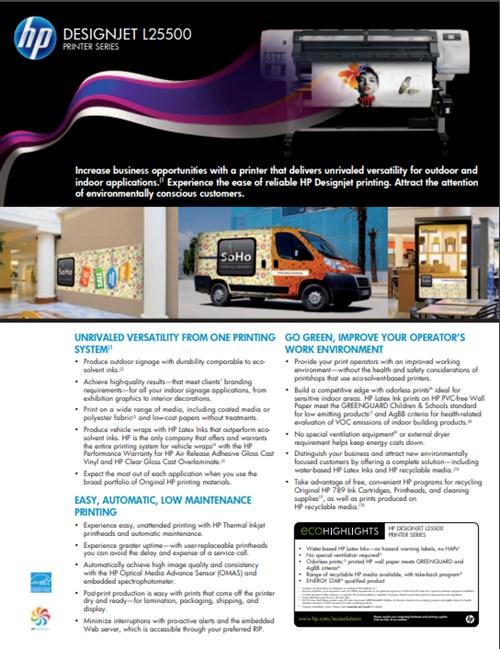 HP (Hewlett Packard) hp Designjet L25500