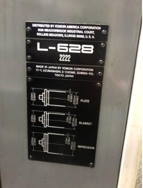 Komori L628+CX, Series