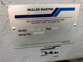 Muller Martini Minuteman saddle stitcher
