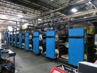 1992 Hantscho Mark 16 (8) Unit (2) Web Offset Press