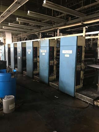 Harris M110B - 6 Unit Press; 2 Web press