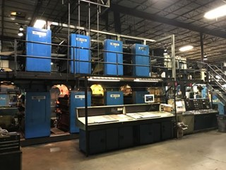 Harris NC400 (8) Unit (2) Web Offset Press 4 x 4 Stacked