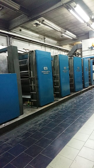 Heidelberg Harris M600 B-24 Web Press 4 units cut off 22 3/4