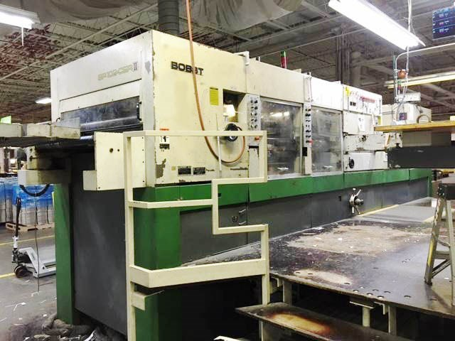 Bobst SP 102 CER II W/ Stripping and Blanking