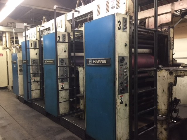Harris M1000A Double Web 8 Unit Press