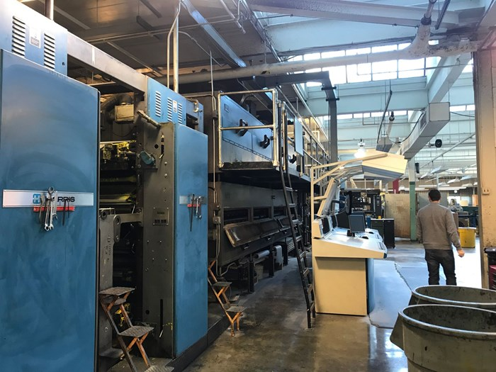 Harris M1000A (8) Unit (2) Web Press