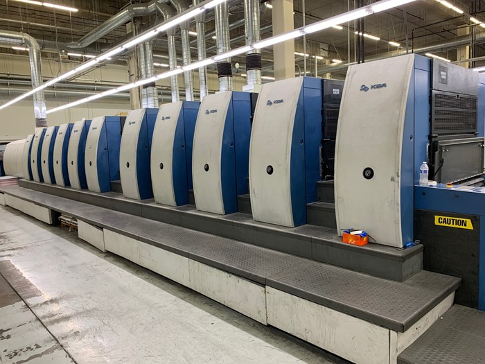 KBA Rapida 105-10+LSW5 CX (10) Color UV Press