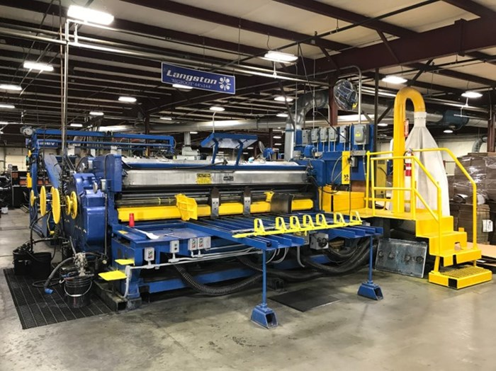 Langston 2 Color Flexo Printer Slotter