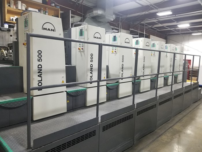 Manroland 506 6 Color Press