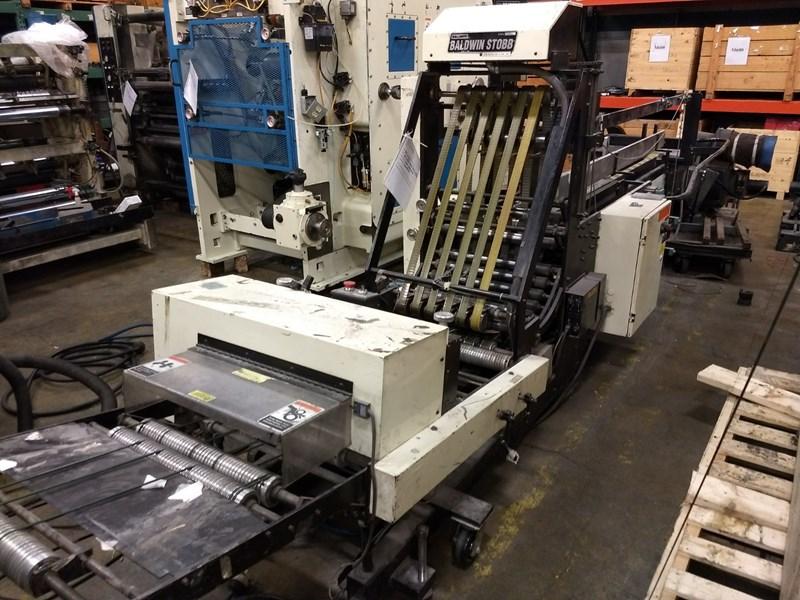 "used baldwin 150 il stacker bundler presscity rh presscity com Rima Manual 6Mm 24"" Width Platform Stacker"