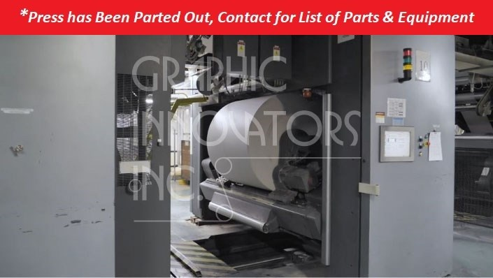 Goss®/Heidelberg Mainstream Press Line *Press Parted Out, Contact for List of Parts & Equipment