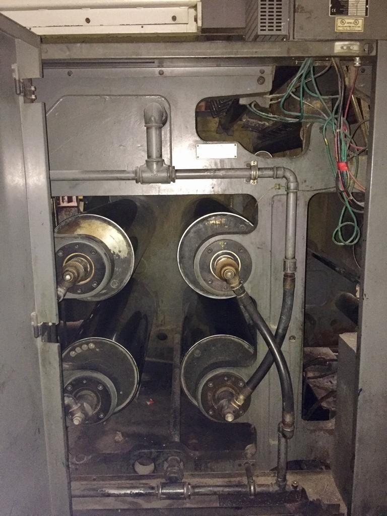 "Heidelberg M600 5 Units; 22 3/4"" Cutoff - JF44 Folder 1 Web Press"