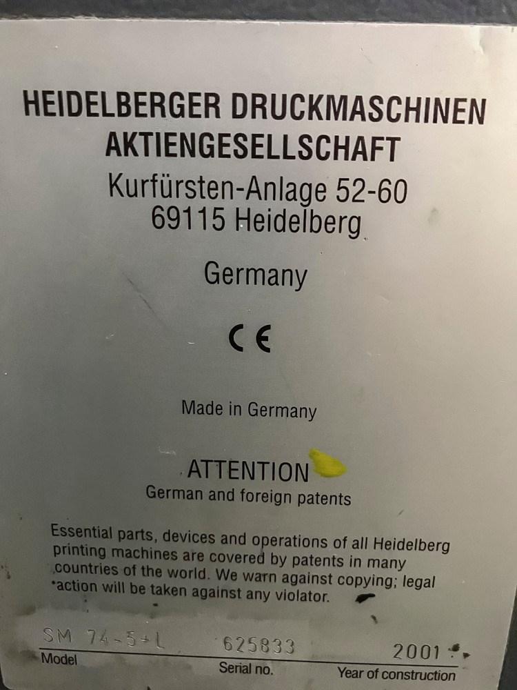 Heidelberg SM 74-5+LX