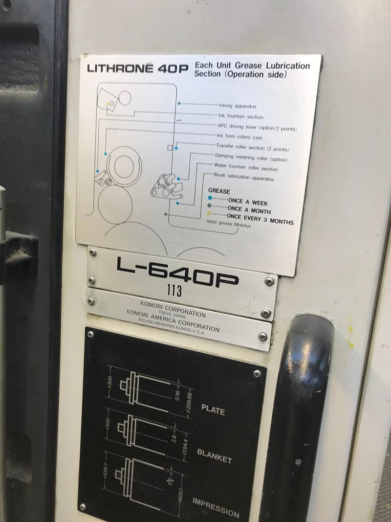 Komori L640P + Coater