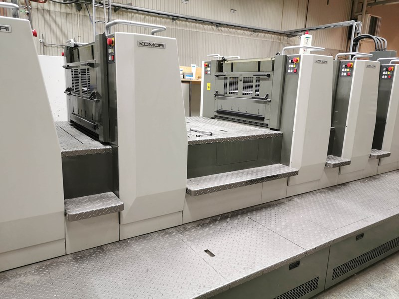 Komori Lithrone L-29 8 Color Prefector W/ Coater