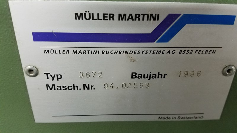 Muller Martini 3672 Zenith Trimmer