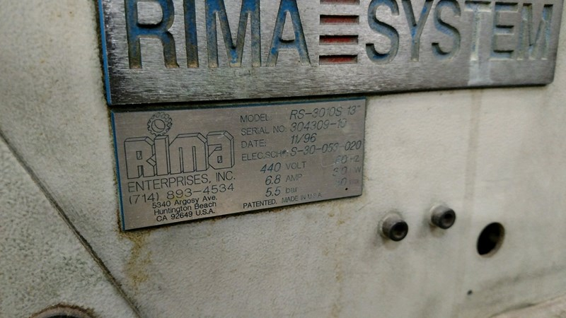 "Rima RS-3010S 13"" Compensating Stacker"