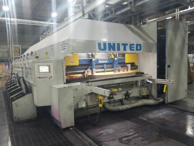 "United Flexus 66"" x 125"" (6) Color Rotary Die Cutter"
