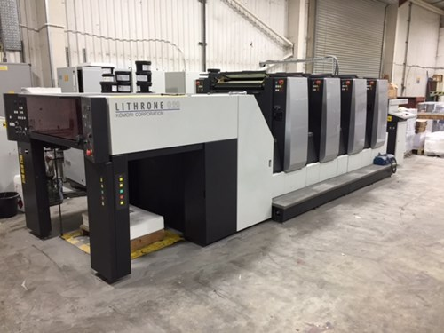 Komori G429 HUV 4 Colour Offset Press