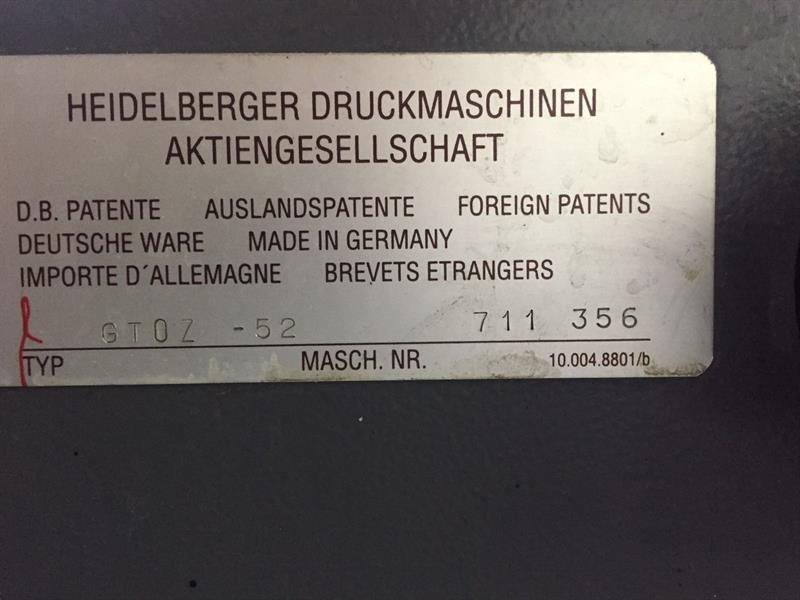 Heidelberg GTOZ 52