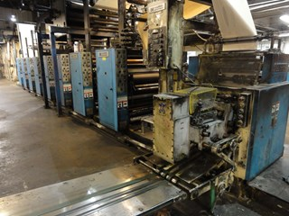 Harris V15D 8/u 22 3/4 coldset web offset press