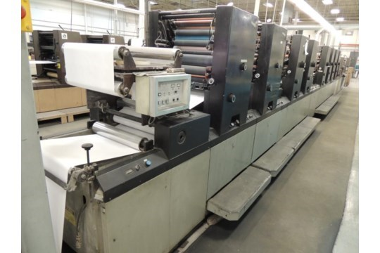 """Didde 860 8/C web offset printing press with 22"""" cut off"""